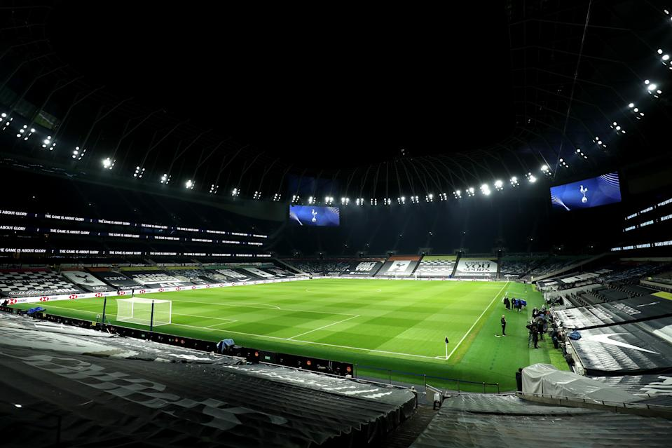 The Tottenham Hotspur Stadium will host its first boxing contest on September 25 (Tottenham Hotspur FC via Getty Images)