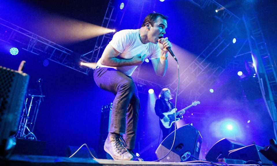 Future Islands at Roskilde festival in Denmark, 2014