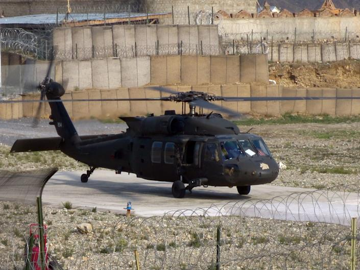 Black Hawk helicopters, such as the one pictured above, have been seized by the Taliban (US Army)