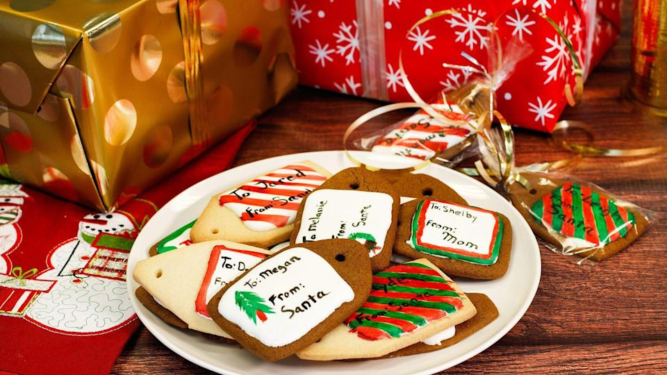 "<p>There is plenty of <a href=""https://www.theactivetimes.com/home/holiday-gift-etiquette?referrer=yahoo&category=beauty_food&include_utm=1&utm_medium=referral&utm_source=yahoo&utm_campaign=feed"" rel=""nofollow noopener"" target=""_blank"" data-ylk=""slk:gift-giving etiquette to follow"" class=""link rapid-noclick-resp"">gift-giving etiquette to follow</a>, but using gingerbread cookies as gift tags probably isn't breaking any rules.</p> <p><a href=""https://www.thedailymeal.com/recipe/gingerbread-cookie-gift-tags?referrer=yahoo&category=beauty_food&include_utm=1&utm_medium=referral&utm_source=yahoo&utm_campaign=feed"" rel=""nofollow noopener"" target=""_blank"" data-ylk=""slk:For the Gingerbread Cookie Gift Tags recipe, click here."" class=""link rapid-noclick-resp"">For the Gingerbread Cookie Gift Tags recipe, click here.</a></p>"