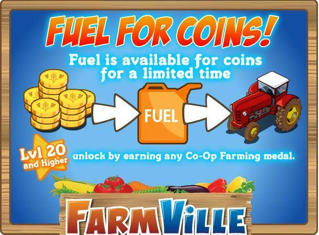 farmville fuel for coins available for a limited time