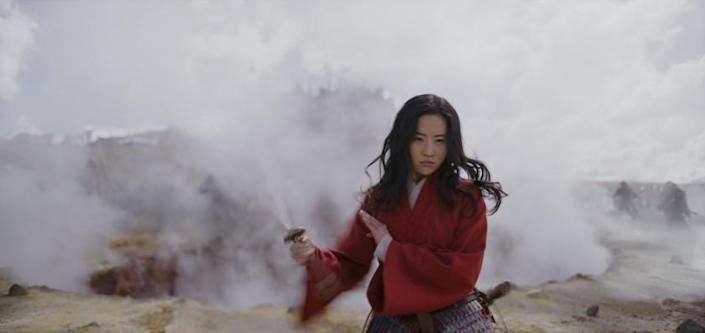 Mulan (Yifei Liu) in a scene from ÒMULAN.Ó Credit: Film Frame/Disney