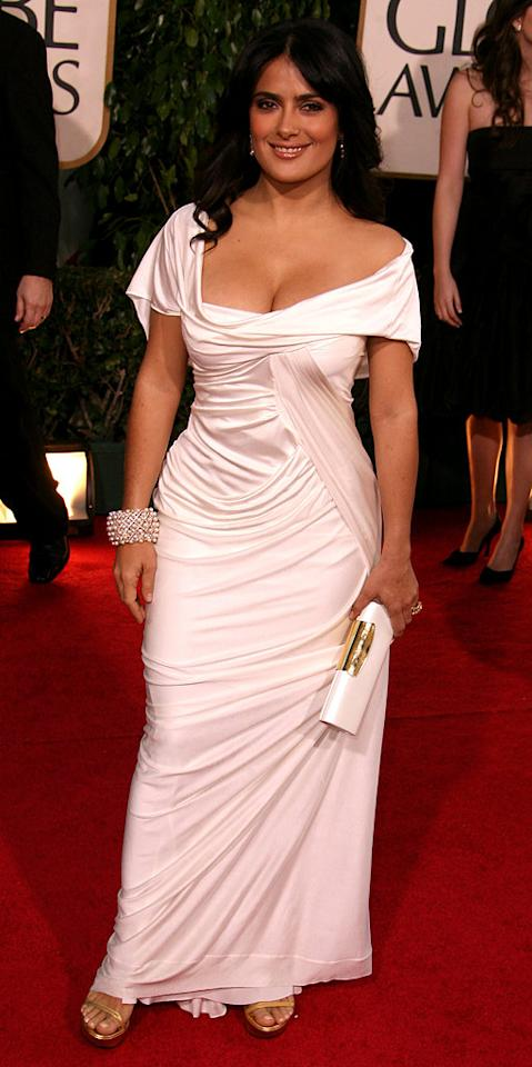 "<a href=""/salma-hayek/contributor/28639"">Salma Hayek</a> at <a href=""/the-64th-annual-golden-globe-awards/show/40075"">the 64th annual Golden Globe Awards</a>."