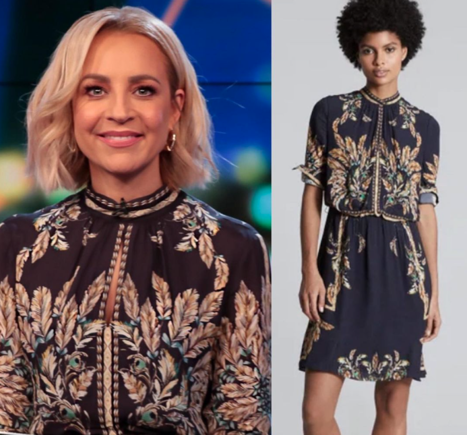Carrie Bickmore in reiss dress