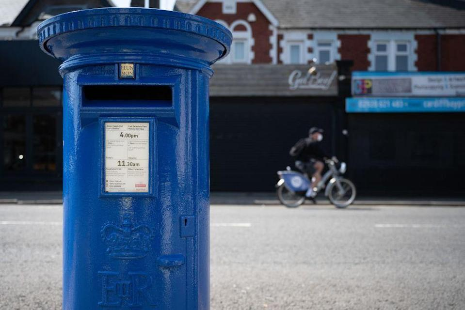 <p>A number of postboxes across the UK have been painted blue as a token of thanks to NHS staff battling the Coronavirus pandemic. As well as bearing the colours of the National Health Service, the postboxes also have 'Thank you NHS' emblazoned on the side in white paint.</p><p>There are currently five across the UK with one erected in Cardiff, Wales (pictured), another near St Thomas hospital in London, one in Manchester, Edinburgh and Belfast.</p>