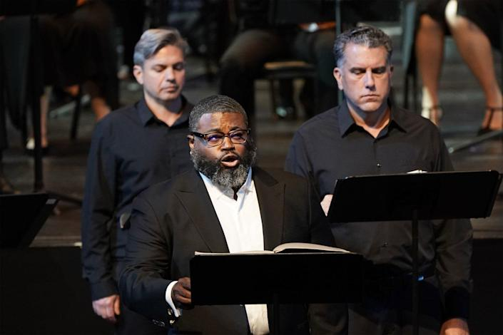 """Russell Thomas singing """"Oedipus Rex"""" with L.A. Opera."""