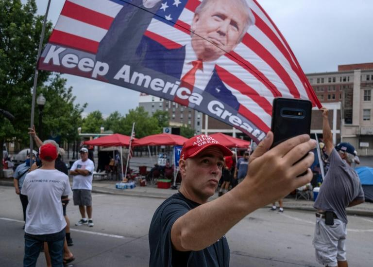 Trump's most loyal supporters sought a show of strength, amid multiple crises (AFP Photo/SETH HERALD)
