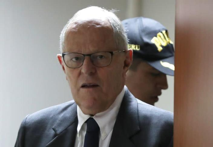 Peru's former President Kuczynski is seen at a court in Lima