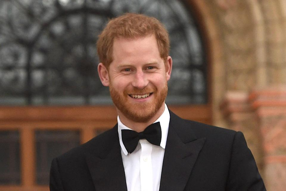 Prince Harry Duke Of Sussex at Our Planet Global Premiere At Natural History Museum London in April 2019