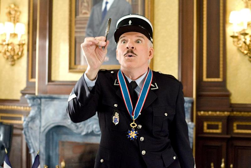 """In this image released by Columbia/Sony Pictures, Steve Martin is shown in a scene from, """"The Pink Panther 2."""" The Board of Governors of the Academy of Motion Picture Arts and Sciences will present Honorary Awards to Martin, Angela Lansbury, and Piero Tosi, and the Jean Hersholt Humanitarian Award to Angelina Jolie. All four awards will be presented at the Academy's 5th Annual Governors Awards on Saturday, November 16, 2013, at the Ray Dolby Ballroom at the Hollywood & Highland Center in the Hollywood section of Los Angeles. (AP Photo/Columbia/Sony Pictures, Peter Iovino) ** NO SALES **"""