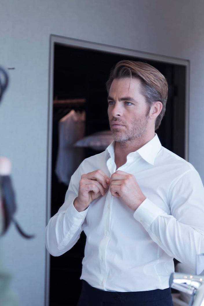Chris Pine in newly released images from his Giorgio Armani Code Colonia campaign