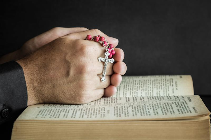 Sixty-seven percent of Catholics support same-sex marriage, according to a Pew Research Center survey conducted in June. (FotoDuets via Getty Images)