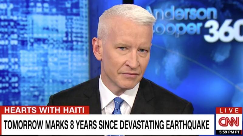 Anderson Cooper Fights Tears As He Defends Haiti From Trump's Insults