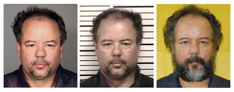 In this photo combination of photos provided by, from left, the Cleveland Police Department, Cuyahoga County Jail and Ohio Department of Rehabilitation and Corrections, Ariel Castro is shown. Castro, who held three women captive for a decade, committed suicide, Tuesday, Sept. 3, 2013. (AP Photo)