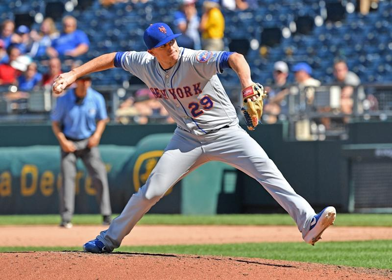 Brad Brach pitching for Mets in 2019 07152020