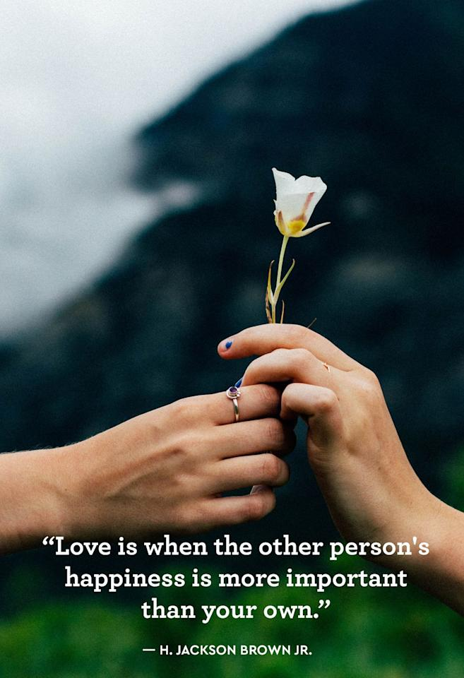 """<p>""""Love is when the other person's happiness is more important than your own."""" </p>"""