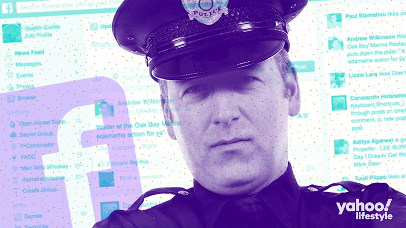 A free-speech lawsuit from a police sergeant in Arizona is raising questions about what police can and can't say on social media. (Photo Illustration: Nathalie Gonzalez)