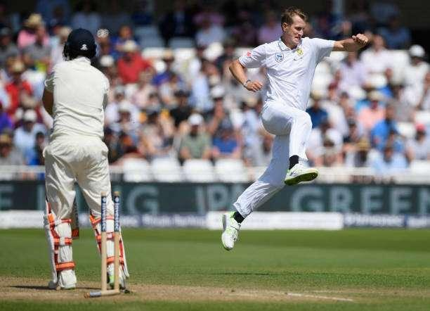NOTTINGHAM, ENGLAND - JULY 17: England batsman Joe Root is bowled by Chris Morris during day four of the 2nd Investec Test match between England and South Africa at Trent Bridge on July 17, 2017 in Nottingham, England. (Photo by Stu Forster/Getty Images)