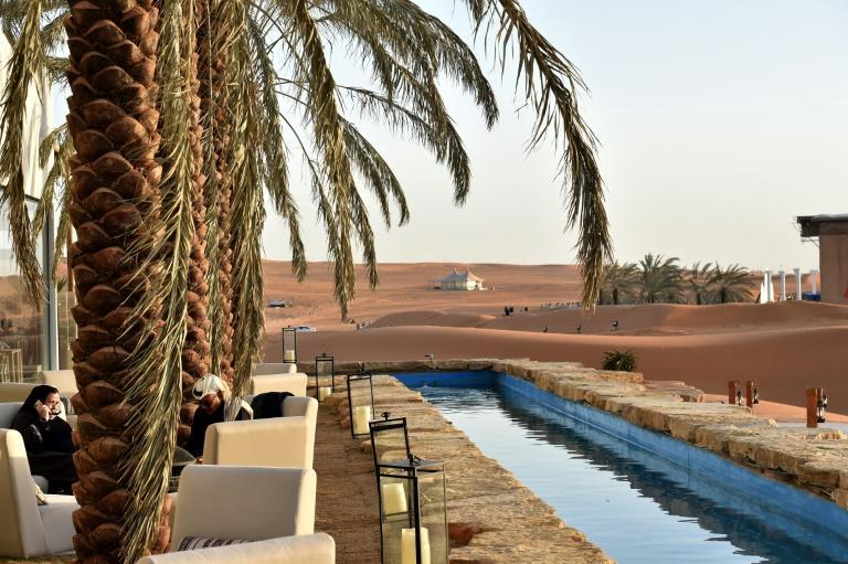 The Riyadh Oasis is a high-end desert retreat with palm-fringed pools, pop-up restaurants and luxury tents