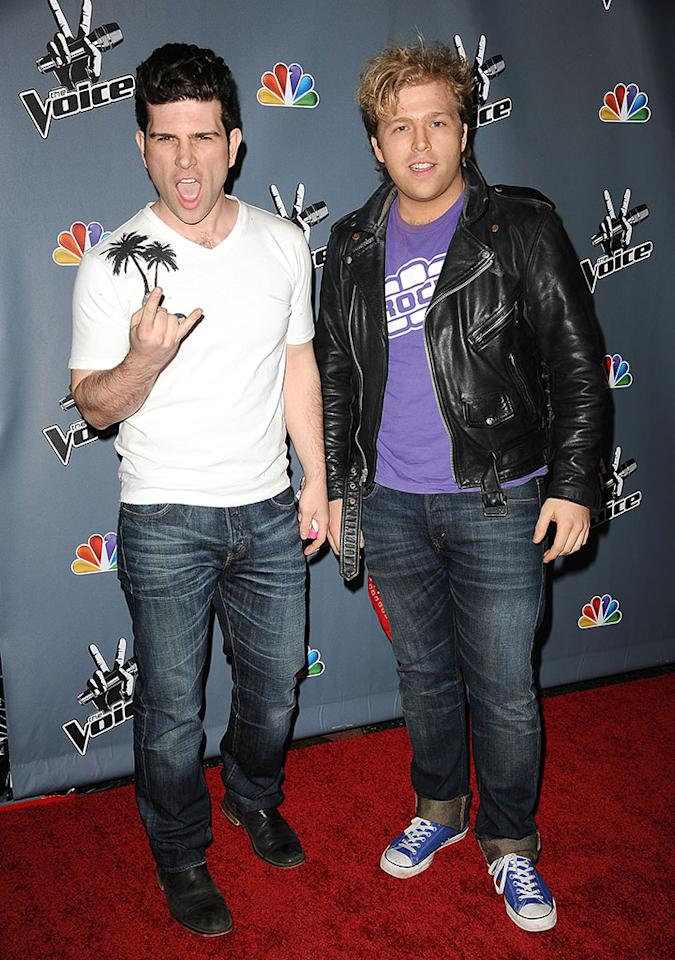 "Tristan Shields and Rory Shields arrive at the screening of NBC's ""The Voice"" Season 4 at TCL Chinese Theatre on March 20, 2013 in Hollywood, California."