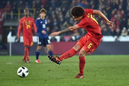 Soccer Football - International Friendly - Belgium v Japan - Jan Breydel Stadium, Bruges, Belgium - November 14, 2017 Belgium's Axel Witsel has a shot at goal REUTERS/Eric Vidal
