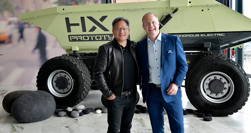 Jensen Huang, founder and CEO of NVIDIA, and Martin Lundstedt, president and CEO of the Volvo Group