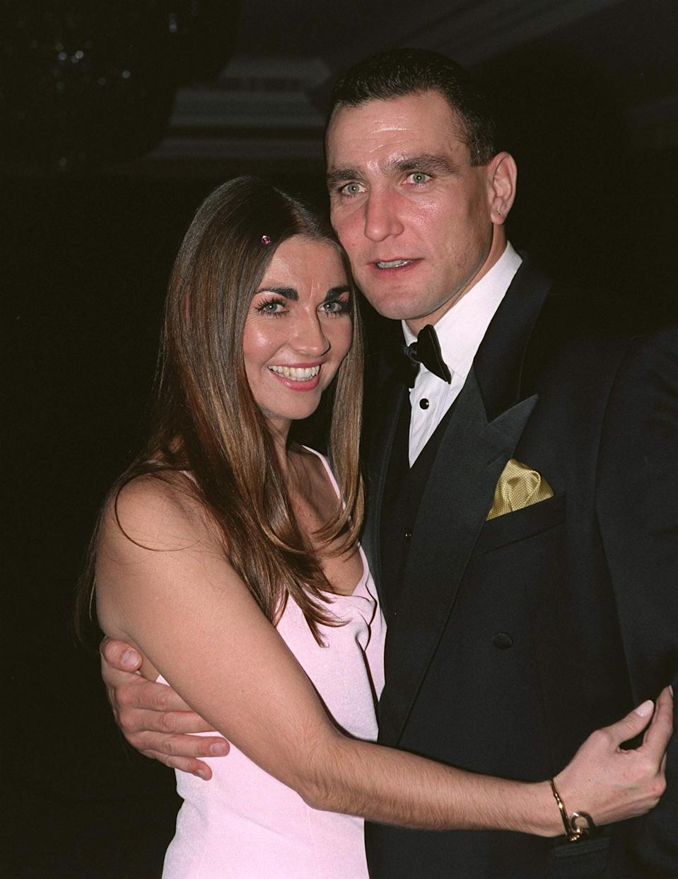 Vinnie Jones - with Tanya at a ball at the Hilton Hotel In London [ Sport Aiding Medical Research For Kids]. (Photo by Tim Graham/Getty Images)