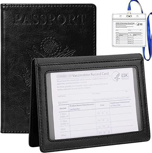 <p>Of course, fans of a classic look will appreciate that there's also a <span>Tigari Passport Cover and Vaccine Card Holder Combo in Black</span> ($10).</p>