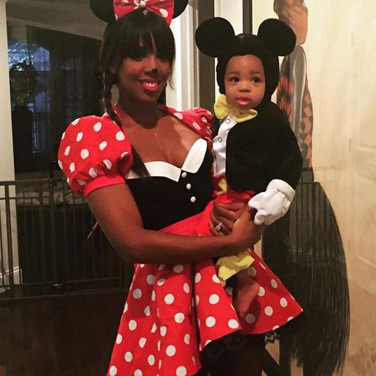Kelly Rowland and son Titan dressed as Minnie and Mickey last Halloween. (Photo: Instagram)