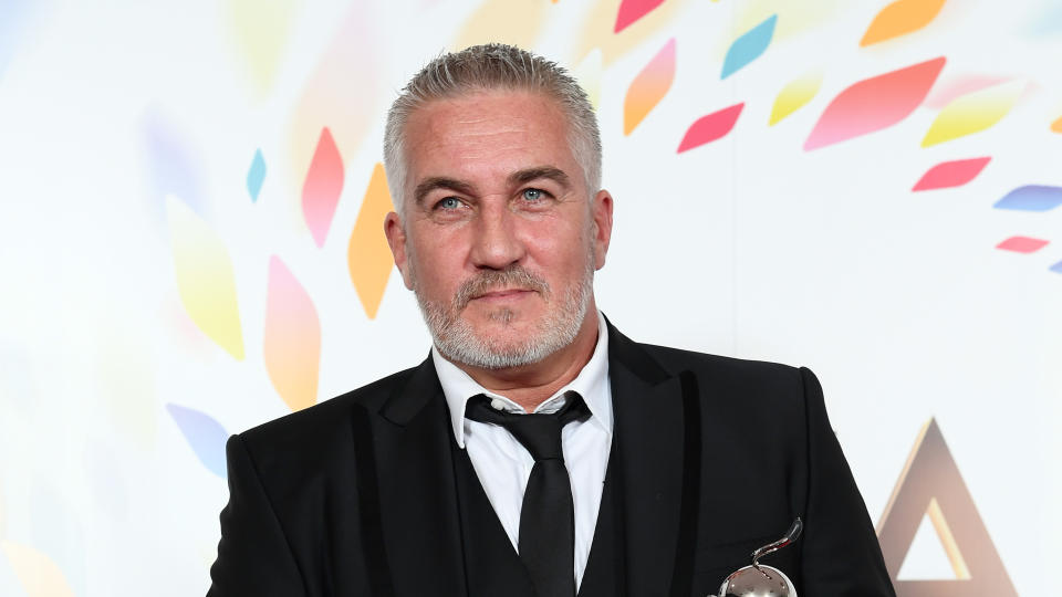 Paul Hollywood of 'The Great British Bake Off' in the winners' room at the National Television Awards 2020. (Photo by Gareth Cattermole/Getty Images)