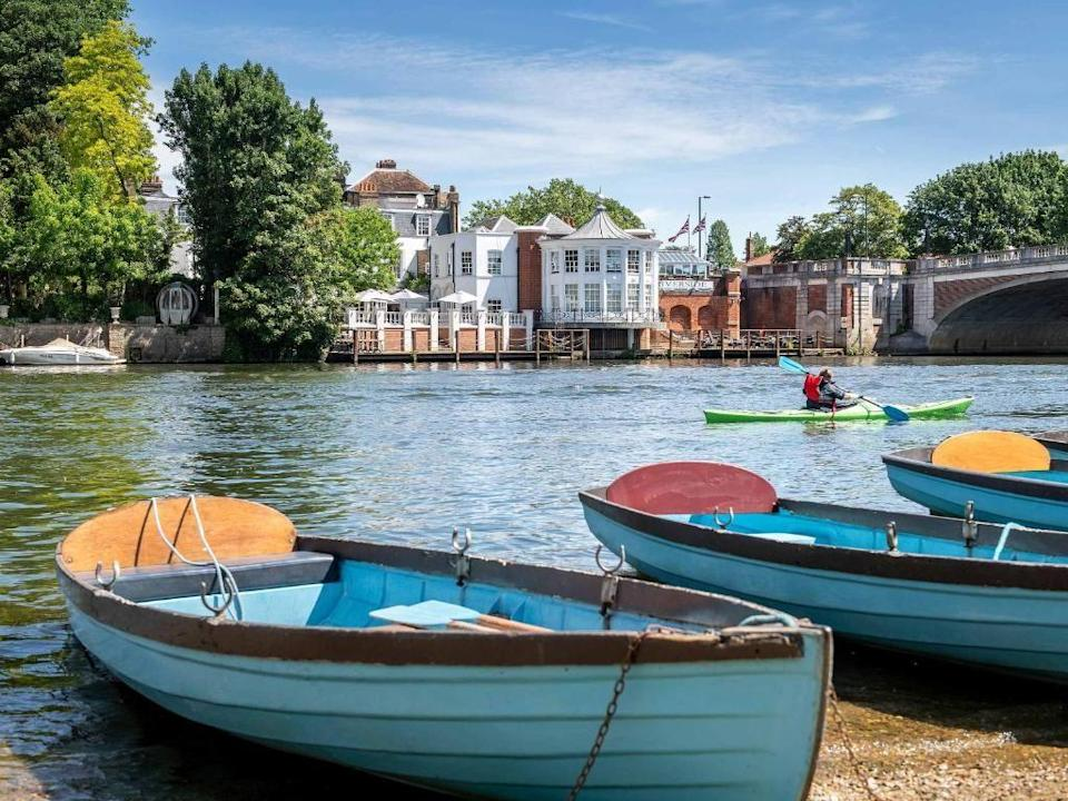 """<p>This charming hotel that sits on the banks of the River Thames might only be 40 minutes from London but it feels a world away. You'll feel your stresses melt away from the moment you step through the <a href=""""https://www.booking.com/hotel/gb/mitre-hotel.en-gb.html?aid=2070929&label=weekend-trips-from-london"""" rel=""""nofollow noopener"""" target=""""_blank"""" data-ylk=""""slk:Mitre"""" class=""""link rapid-noclick-resp"""">Mitre</a>'s doors as you snuggle up with a whisky from the honesty bar in the cosy Library or head for the chic 1665 Riverside Brasserie to feast on oysters and steak. On a sunny day, you'll feel like you're somewhere as glamorous as St Tropez, and if it rains, the in-room roll-top bathtubs call your name.</p><p>If you're after an elegant yet homely place to stay for a weekend trip from London, The Mitre is as warm and stylish as they come. Here, everyone's welcome (including the dog!) and it's jam-packed with history (Hampton Court Palace is just opposite), while providing everything you could require when escaping from the city: top-notch dining, beautiful spaces (don't miss the sun-drenched terrace in summer) and friendly faces.</p><p><a href=""""https://www.redescapes.com/offers/surrey-hampton-court-mitre-hotel"""" rel=""""nofollow noopener"""" target=""""_blank"""" data-ylk=""""slk:Read our review of The Mitre"""" class=""""link rapid-noclick-resp"""">Read our review of The Mitre</a></p><p><a class=""""link rapid-noclick-resp"""" href=""""https://www.booking.com/hotel/gb/mitre-hotel.en-gb.html?aid=2070929&label=weekend-trips-from-london"""" rel=""""nofollow noopener"""" target=""""_blank"""" data-ylk=""""slk:CHECK AVAILABILITY"""">CHECK AVAILABILITY</a></p>"""
