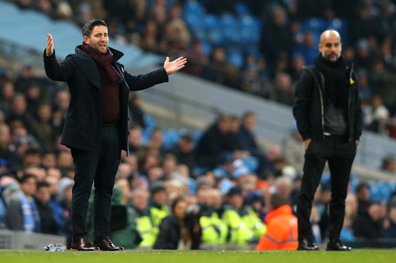 Lee Johnson took on Pep Guardiola's Manchester City (Getty Images)
