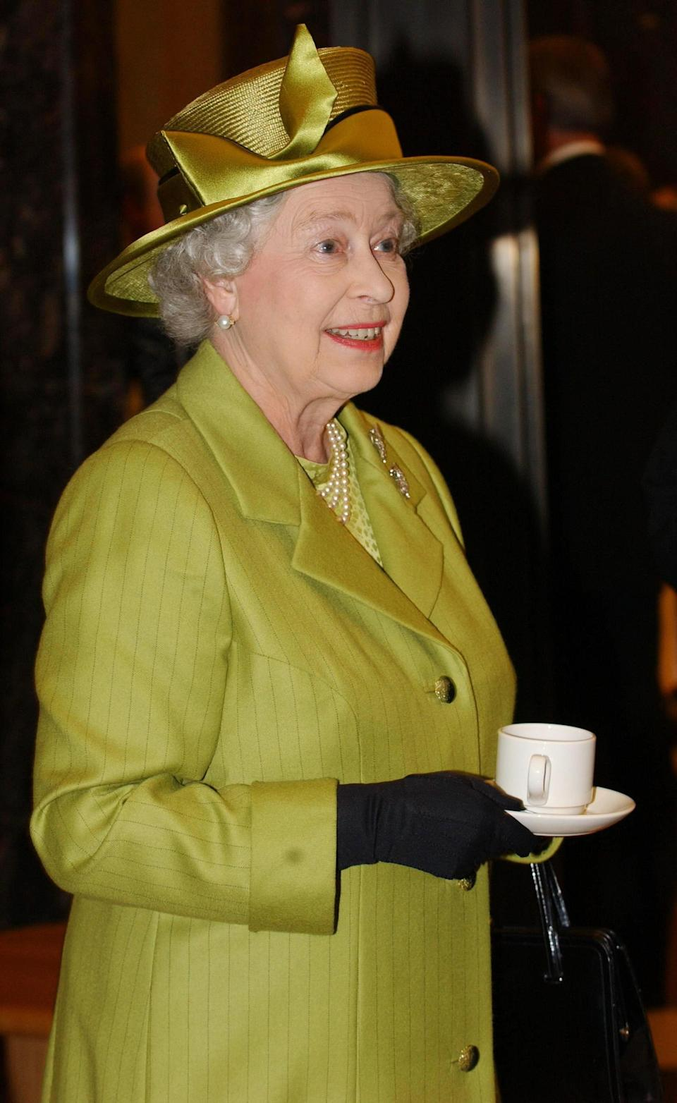 Britain's Queen Elizabeth II during her visit to the Ministry of Defence in Whitehall, London. The Queen was opening the  352 million refurbishment of the MoD's main building in London
