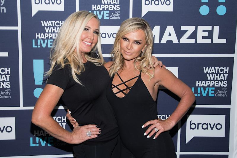 Shannon Beador and Tamra Judge at Bravo event