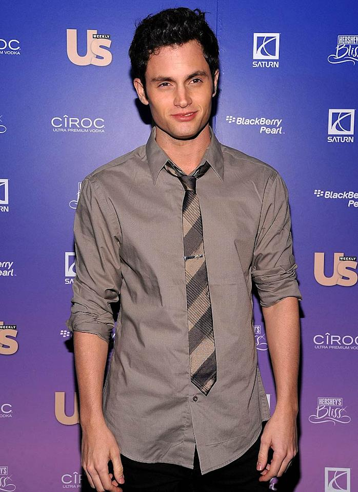 "Penn and the rest of the ""Gossip Girl"" gang were honored by Us as Cast of the Year. Dimitrios Kambouris/<a href=""http://www.wireimage.com"" target=""new"">WireImage.com</a> - October 21, 2008"