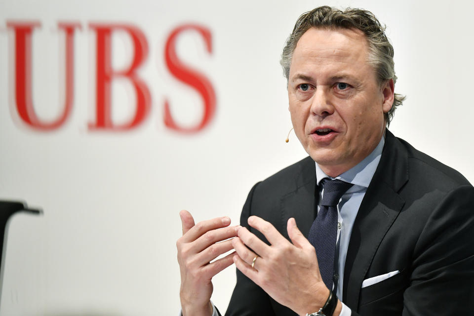 Ralph Hamers, CEO of Swiss Bank UBS. Photo: Walter Bieri/Keystone via AP