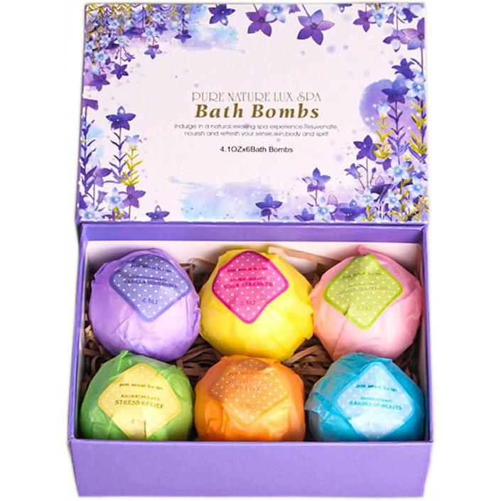 LuxSpa bath bomb gift set, gifts for her