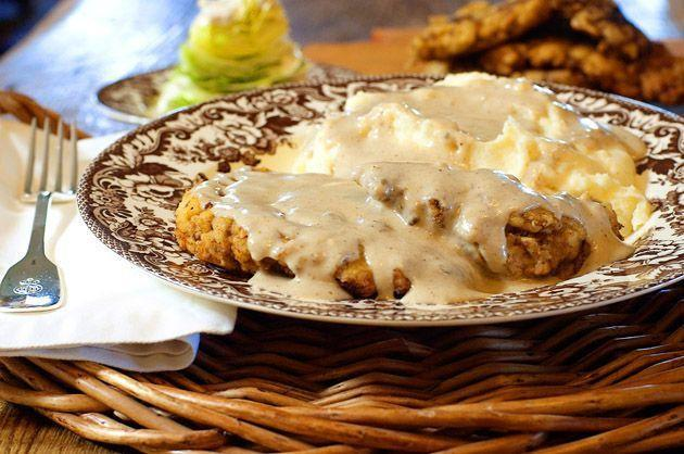 """<p>Gravy is a must for chicken fried steak and <a href=""""https://www.thepioneerwoman.com/food-cooking/recipes/a10691/steak-fingers-with-gravy/"""" rel=""""nofollow noopener"""" target=""""_blank"""" data-ylk=""""slk:steak fingers"""" class=""""link rapid-noclick-resp"""">steak fingers</a>. This classic recipe starts with the flavorful drippings left over from cooking the meat. </p><p><a href=""""https://www.thepioneerwoman.com/food-cooking/recipes/a9931/chicken-fried-steak/"""" rel=""""nofollow noopener"""" target=""""_blank"""" data-ylk=""""slk:Get Ree's recipe."""" class=""""link rapid-noclick-resp""""><strong>Get Ree's recipe.</strong></a></p><p><a class=""""link rapid-noclick-resp"""" href=""""https://go.redirectingat.com?id=74968X1596630&url=https%3A%2F%2Fwww.walmart.com%2Fbrowse%2Fhome%2Fskillets-frying-pans%2F4044_623679_8140341_1675139&sref=https%3A%2F%2Fwww.thepioneerwoman.com%2Ffood-cooking%2Frecipes%2Fg36383850%2Fsteak-sauce-recipes%2F"""" rel=""""nofollow noopener"""" target=""""_blank"""" data-ylk=""""slk:SHOP SKILLETS"""">SHOP SKILLETS</a></p>"""
