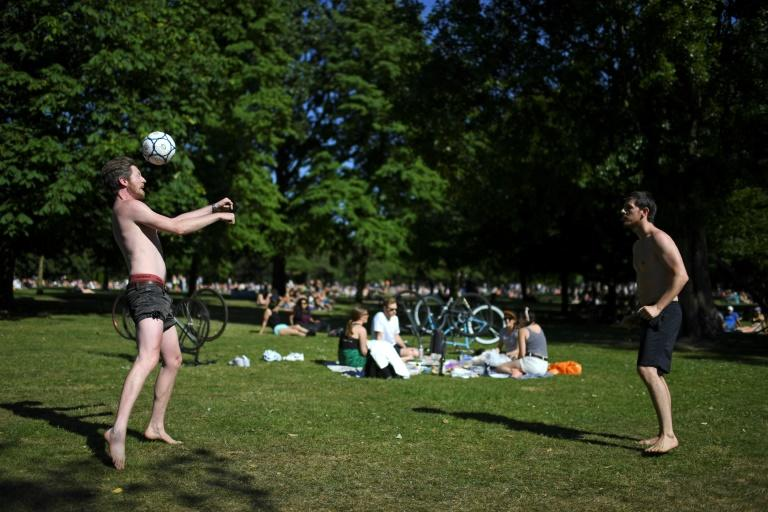 Since May 13, people in England have been allowed to take unlimited exercise and sunbathe in parks, a relaxation of the original rules enforced in March