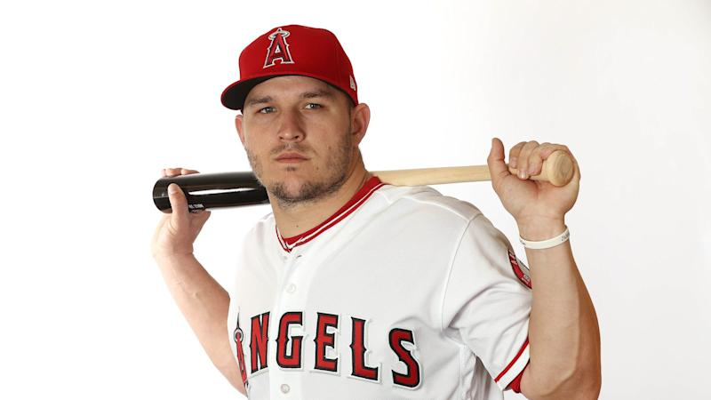 best website de658 eb5e7 Mike Trout, Angels officially announce his new deal