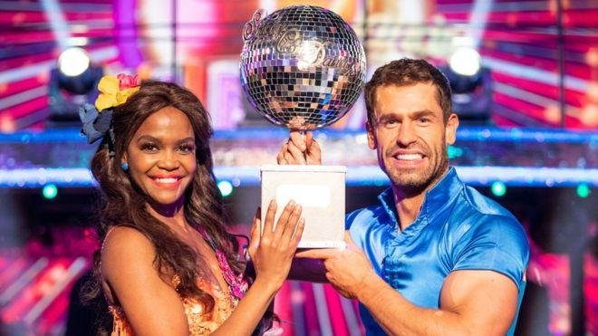 Oti Mabuse and Kelvin Fletcher won in 2019. (BBC)