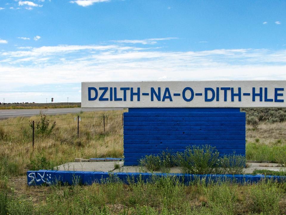 Sign for Navajo health center