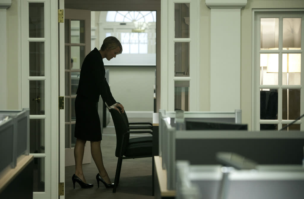"Robin Wright in the ""House of Cards"" Season 1 episode, ""Chapter 2."""