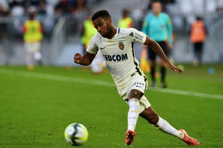 Monaco's Thomas Lemar runs with the ball during their French Ligue 1 match against Bordeaux, at the Matmut Atlantique stadium in Bordeaux, on October 28, 2017