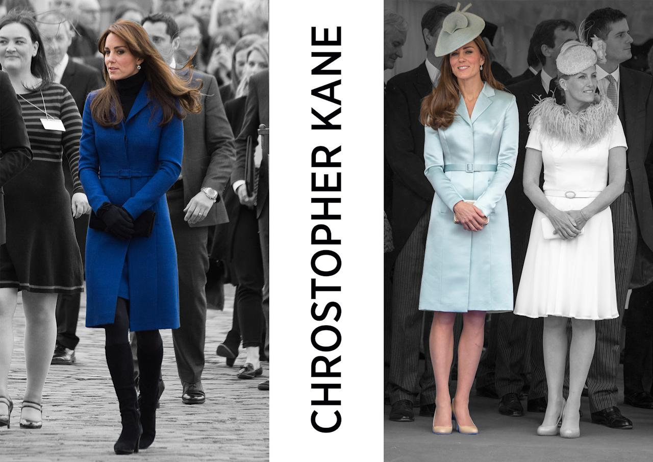 <p><b><b>Kate's only worn Christopher Kane a number of times (at the 2012 Order of the Garter Service and in Dundee on a royal visit), but it's a big win for the Central Saint Martins alumnus. The Scottish-born designer won the New British Designer of the Year in 2006 and has gone on to take the London style industry by storm. His Fashion Week show is always one of the most coveted and his designs are distributed in multiple countries globally, making him one of the UK's most well-known names. <em>[Photos: PA/Yahoo Style UK]</em> </b></b></p>