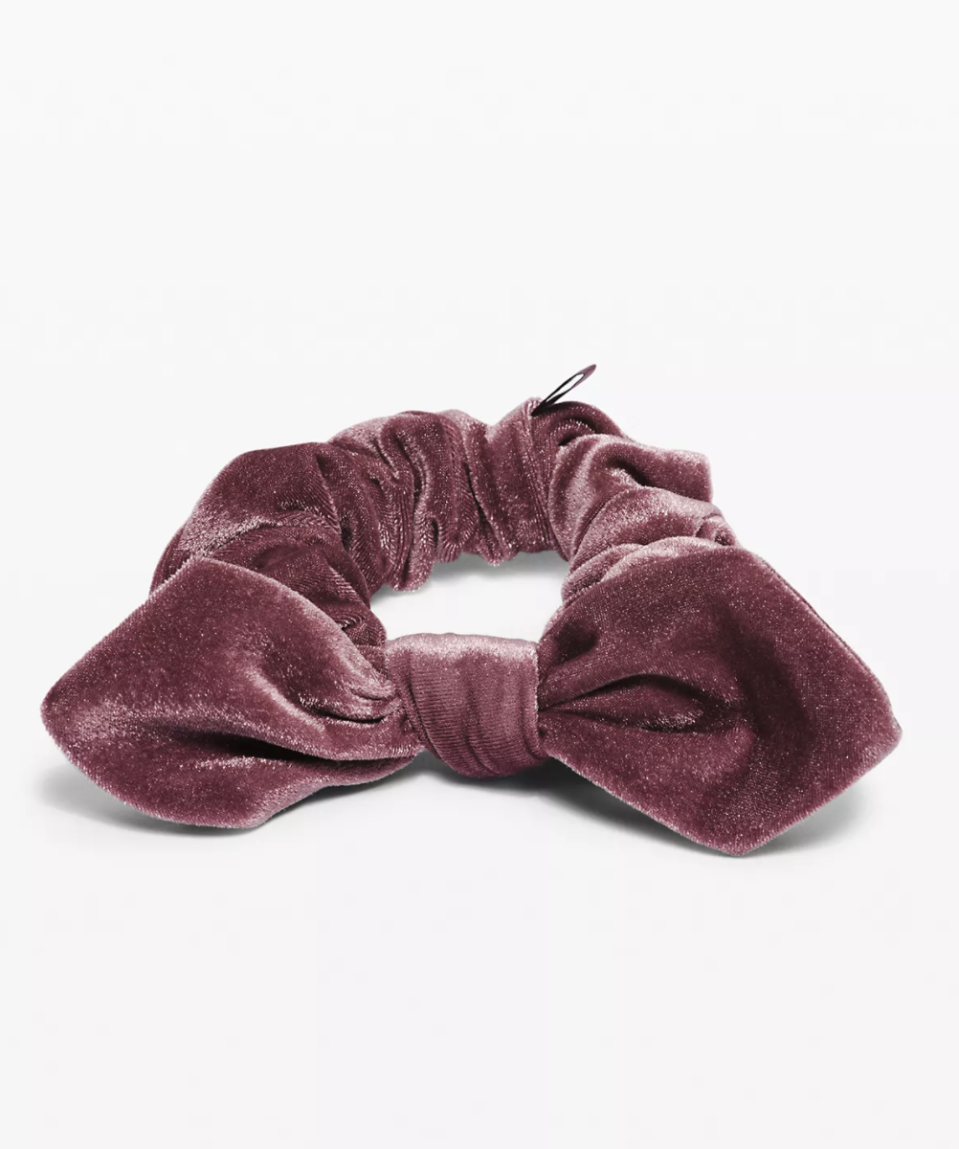 Uplifting Scrunchie Bow Velvet - Lululemon, $14.