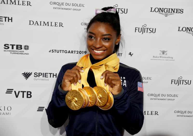 Biles 'praying for the best' with rescheduled Games