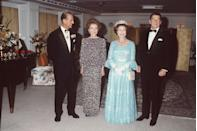 <p>Like this time she met with the Queen...</p>