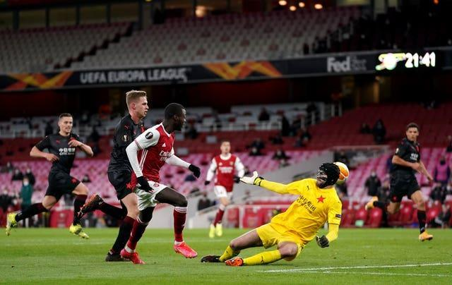 Nicolas Pepe put Arsenal ahead but the Gunners could not hold on