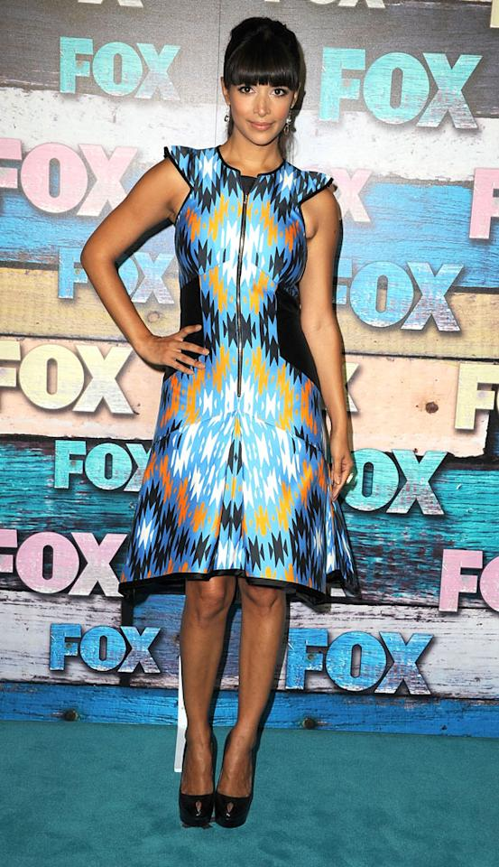 "Hannah Simone (""New Girl"") arrives at the Fox Summer 2012 All-Star Party on July 23, 2012 at the Soho House in West Hollywood, California."